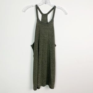 Chaser   racerback tank top olive green large